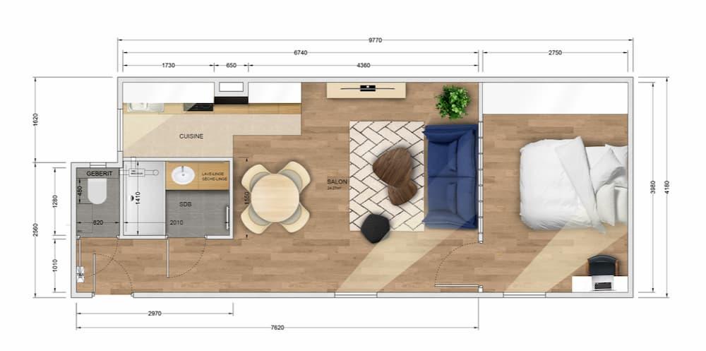 plan projet Marcadet location meublée